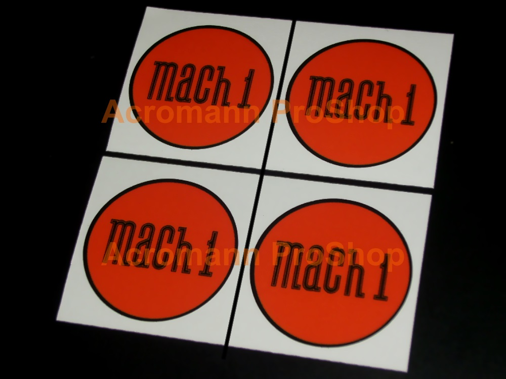 Mach 1 2.2inch Wheel Cap Decal x 4 pcs (Style#2)